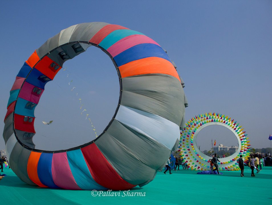 Creative kites at International Kite Festival