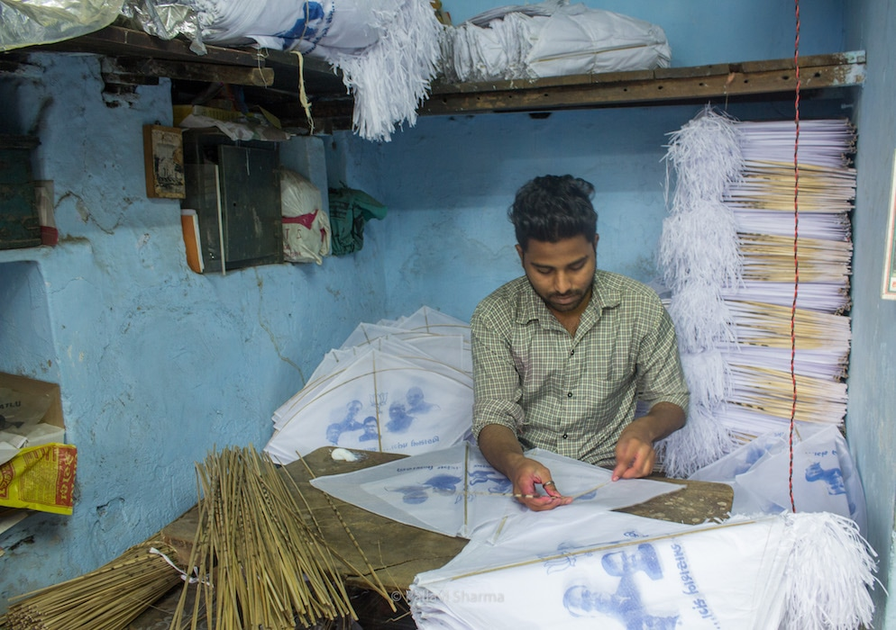 Kite making cottage industry in Jamalpur, Ahmedabad