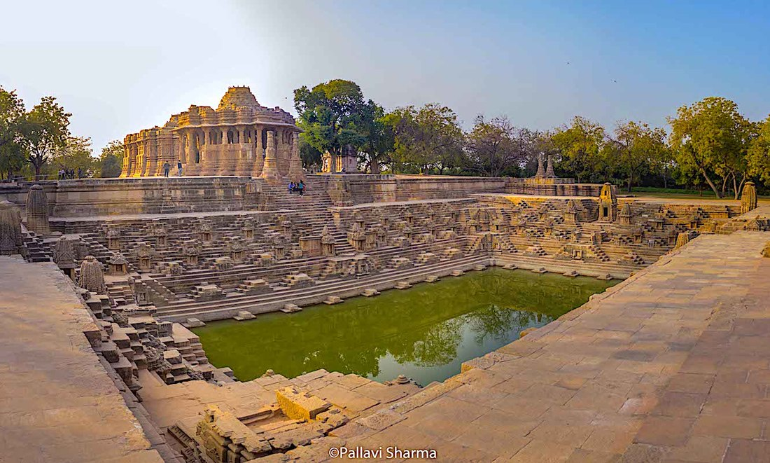 Panaroma view of Modhera Sun Temple, Gujarat