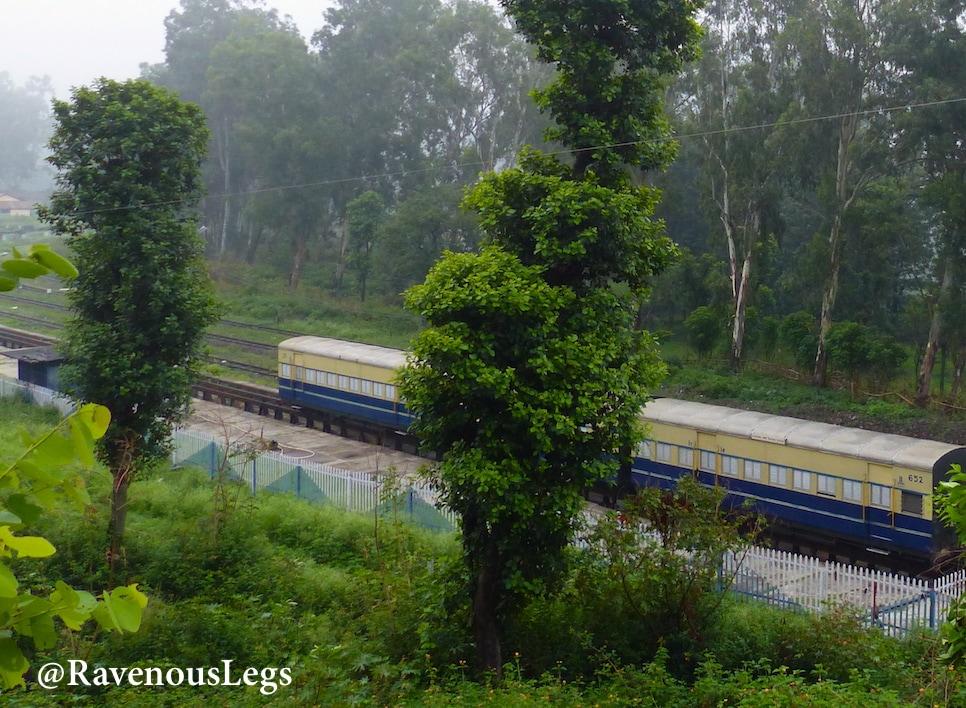 Toy train from Pathankot to Ahju, near Bir
