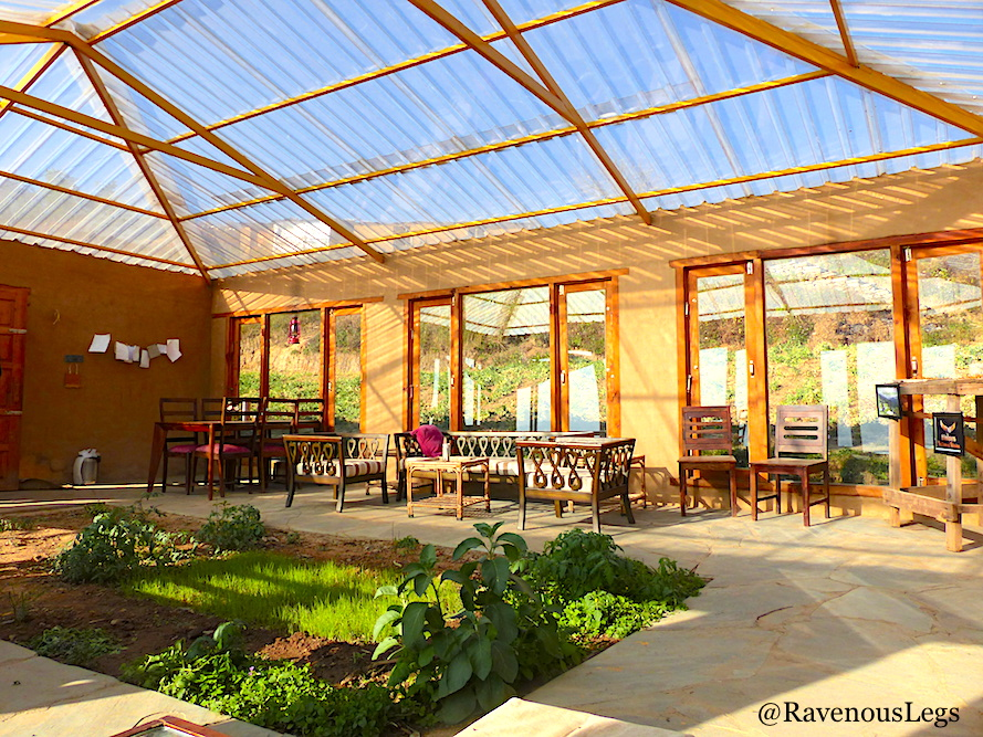 Green House Cafe in The Goat Village, Nag tibba