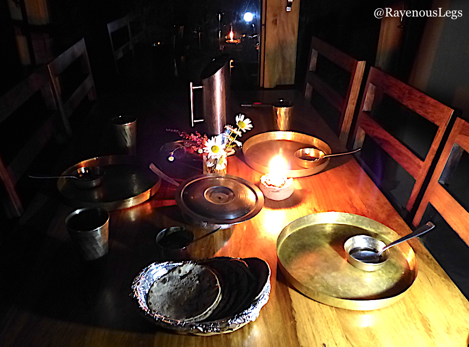 Garhwali food and Candle-light dinner at The Goat Village, Nag tibba