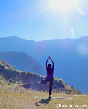 Yoga with the rising sun