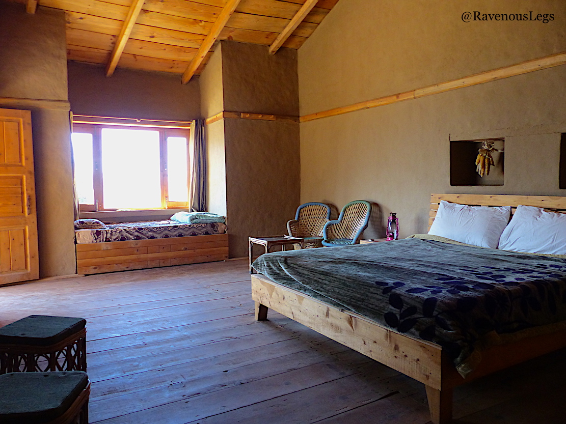 Traditional rooms in The Goat Village, Nag tibba