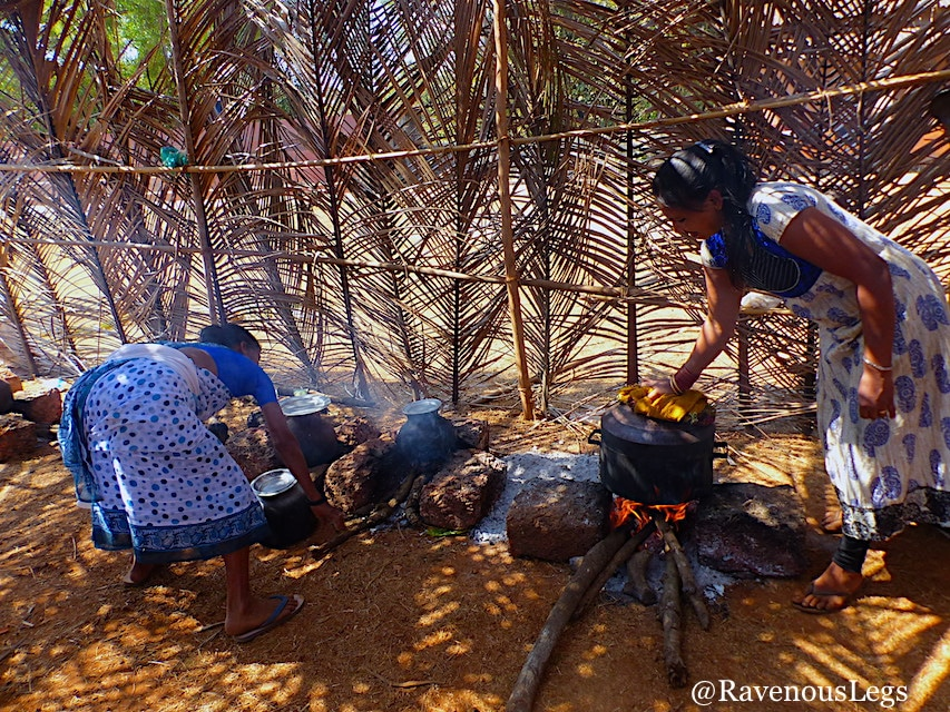 women cooking in traditional goan style at Goa Tribal Festival Xeldem