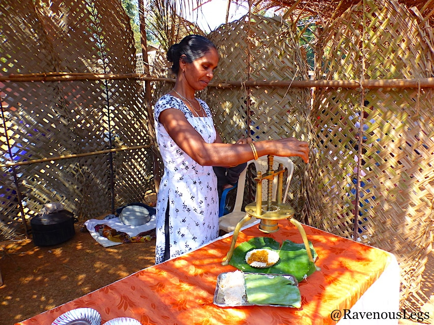 women cookin traditional goan noodles at Goa Tribal Festival Xeldem