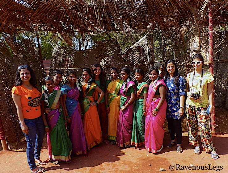 Saree competition at Goa Tribal Festival Xeldem