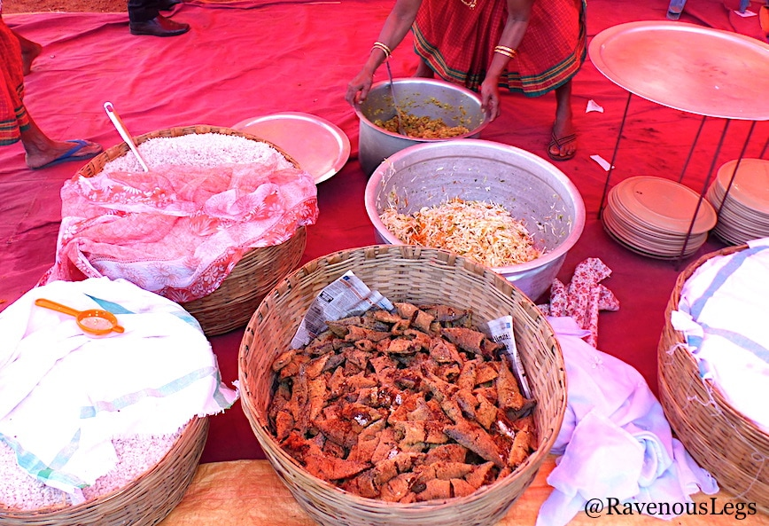 Traditional Goa food at Goa Tribal Festival Xeldem