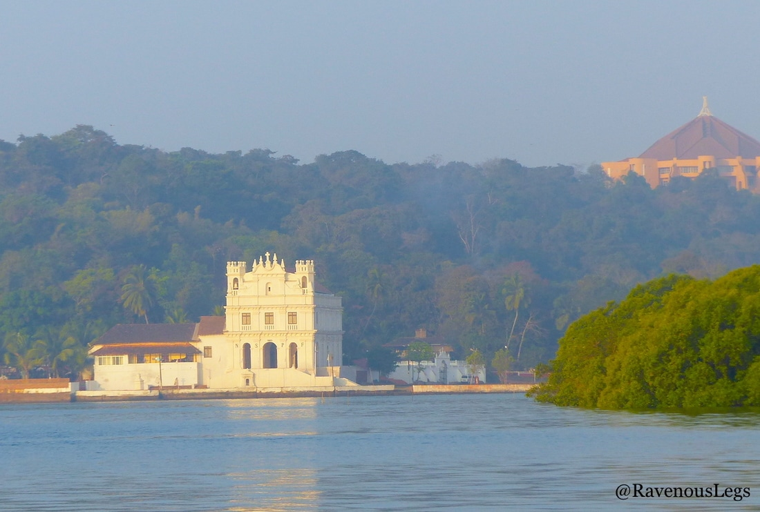 Penha De Franca Church on Mandovi river