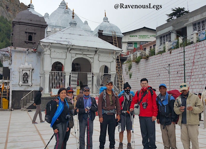 Auden's Col Team7 at Gangotri temple