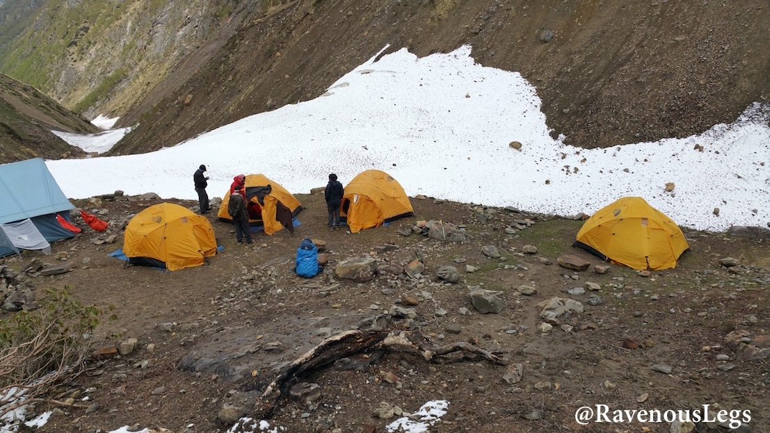 Nala Camp site on Auden's Col trek