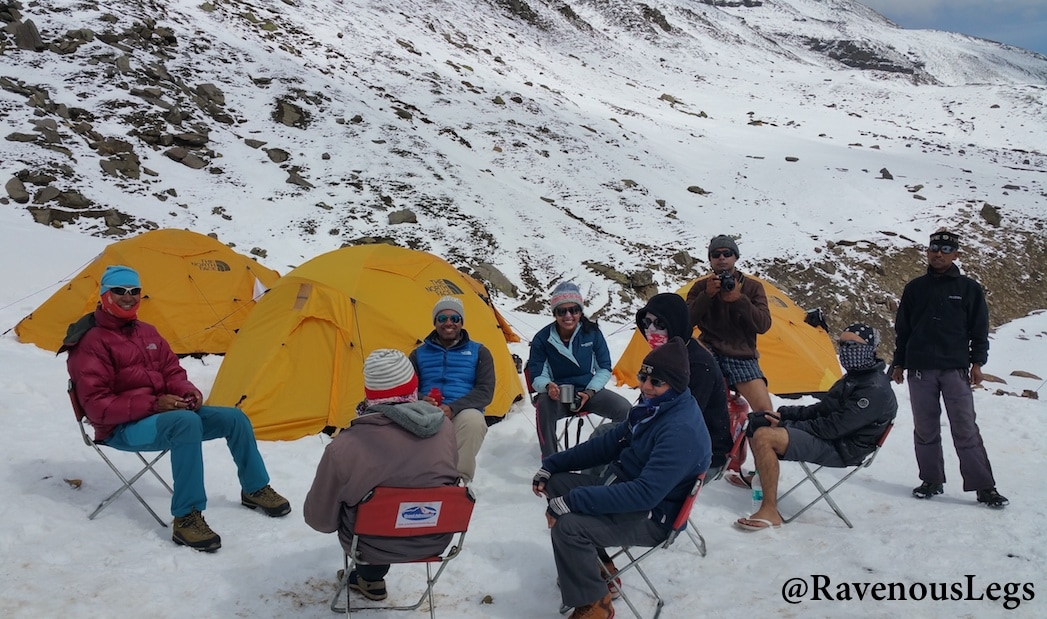 Acclimatisation day at Rudragaira BC on Auden's Col Trek