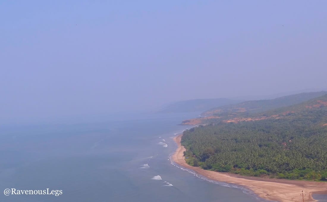Aerial view of Anjarle beach