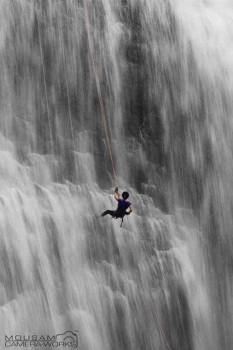 Waterfall rappelling in Igatpuri