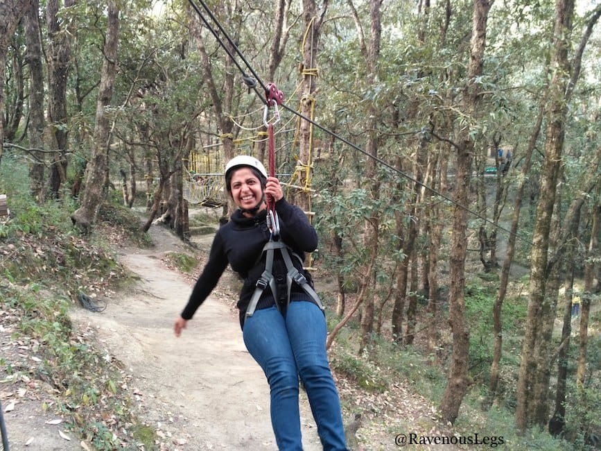 Flying fox at Aamod at Shoghi