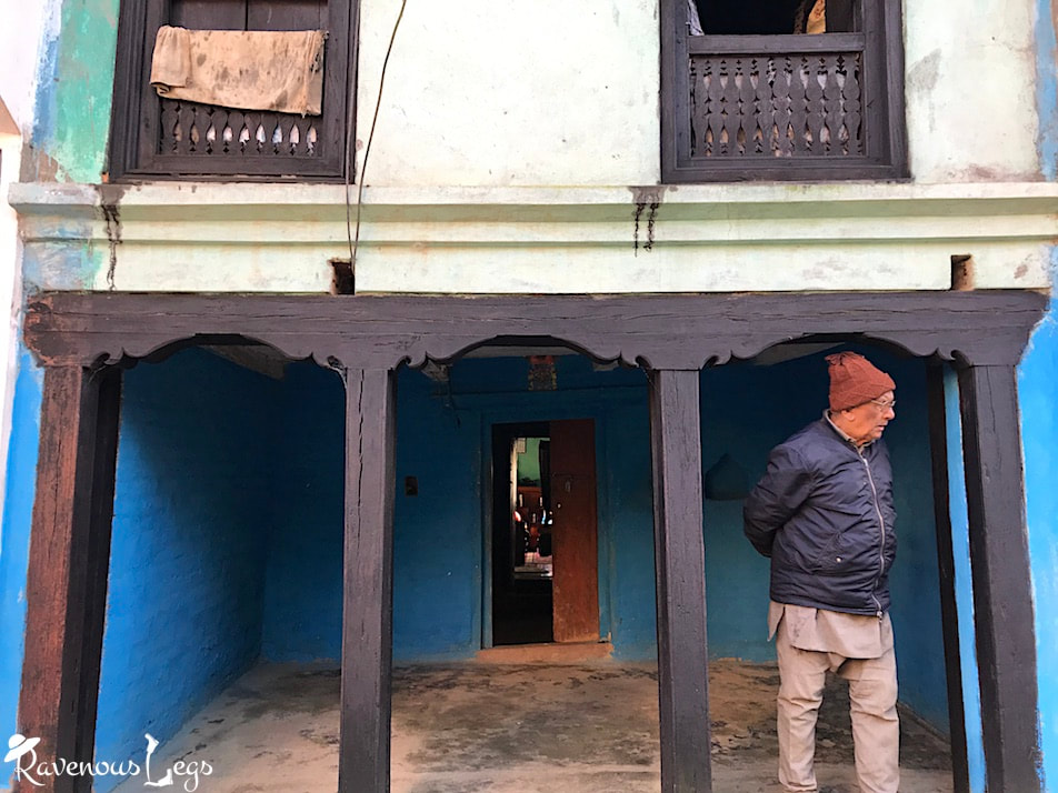 Newari houses in Bandipur with open store front