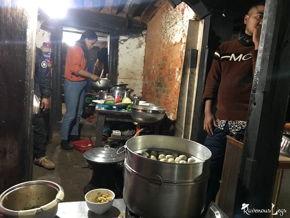 Food joints serving local food in Bandipur Bazaar