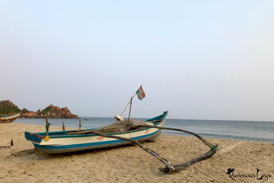 Traditonal fishing boat at Khavane beach, Konkan coast, Maharashtra