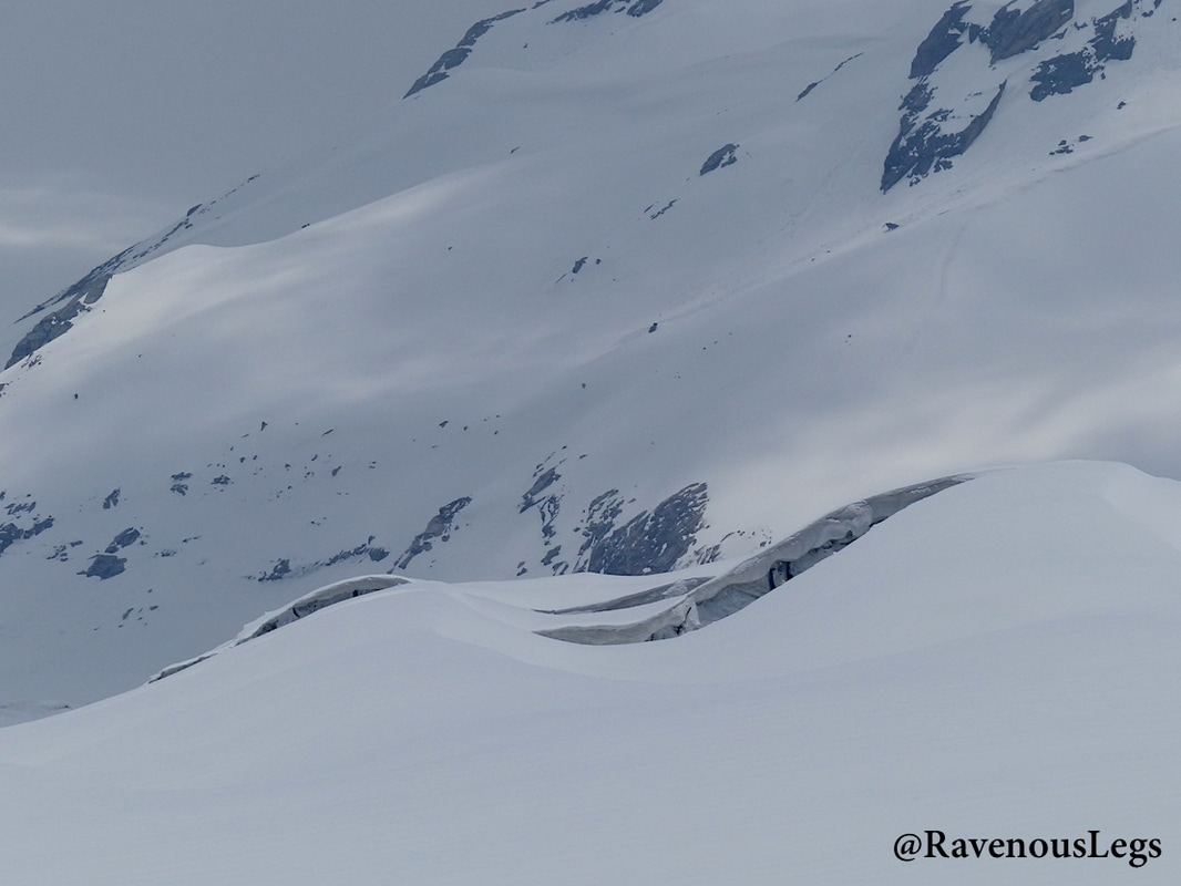 Crevasses on Khatling glacier