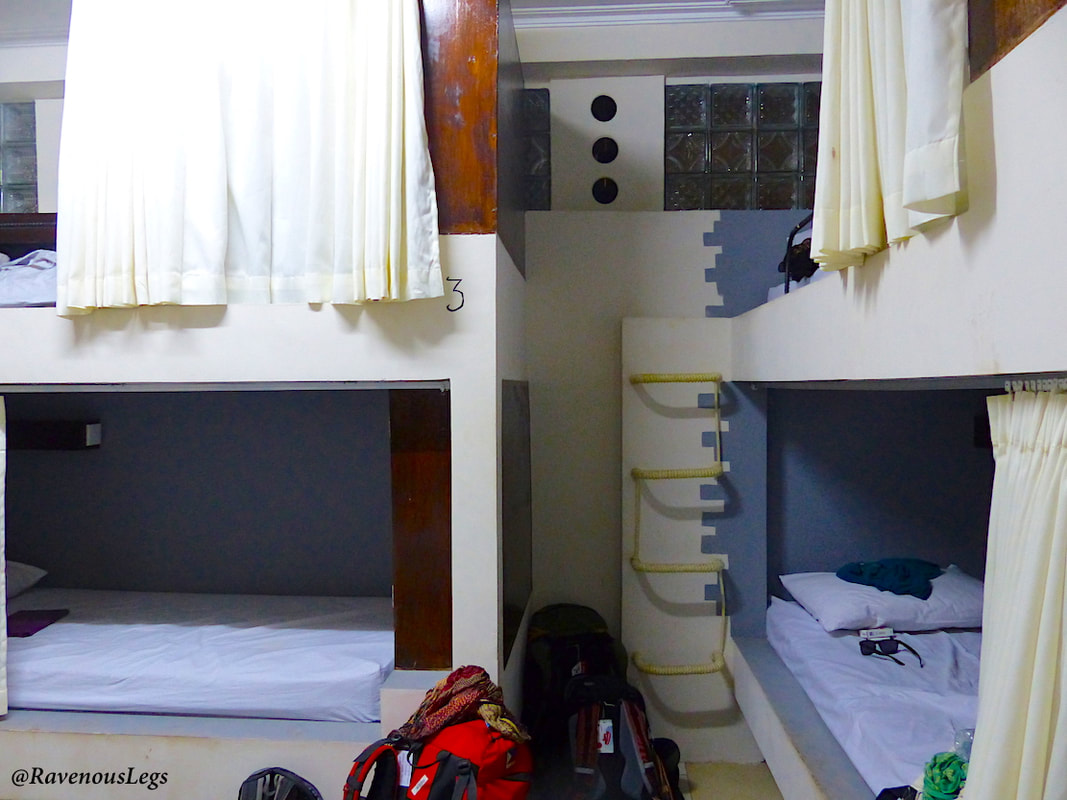 Dorm in Broken Compass Hostel at Gili Trawangan, Indonesia