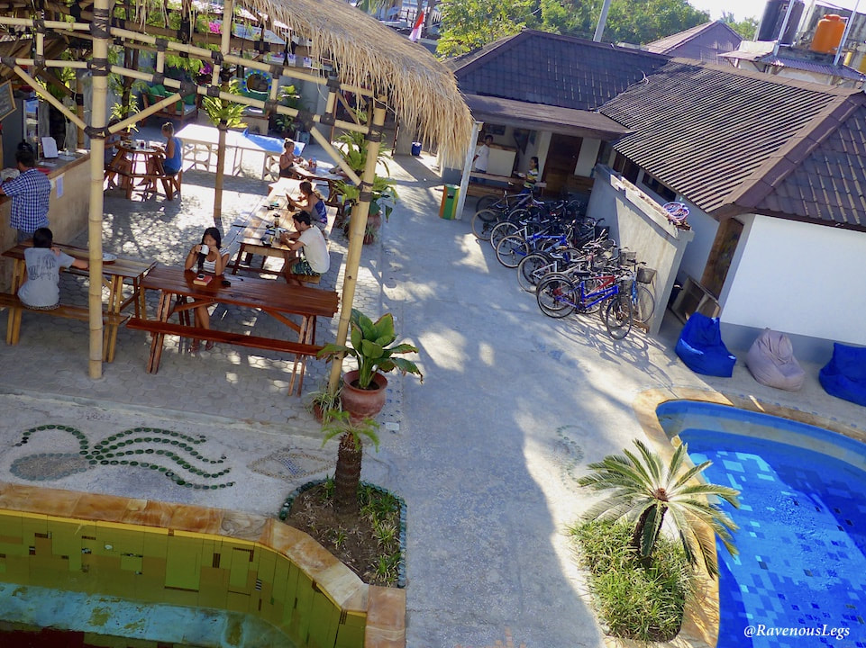 Broken Compass Hostel at Gili Trawangan, Indonesia