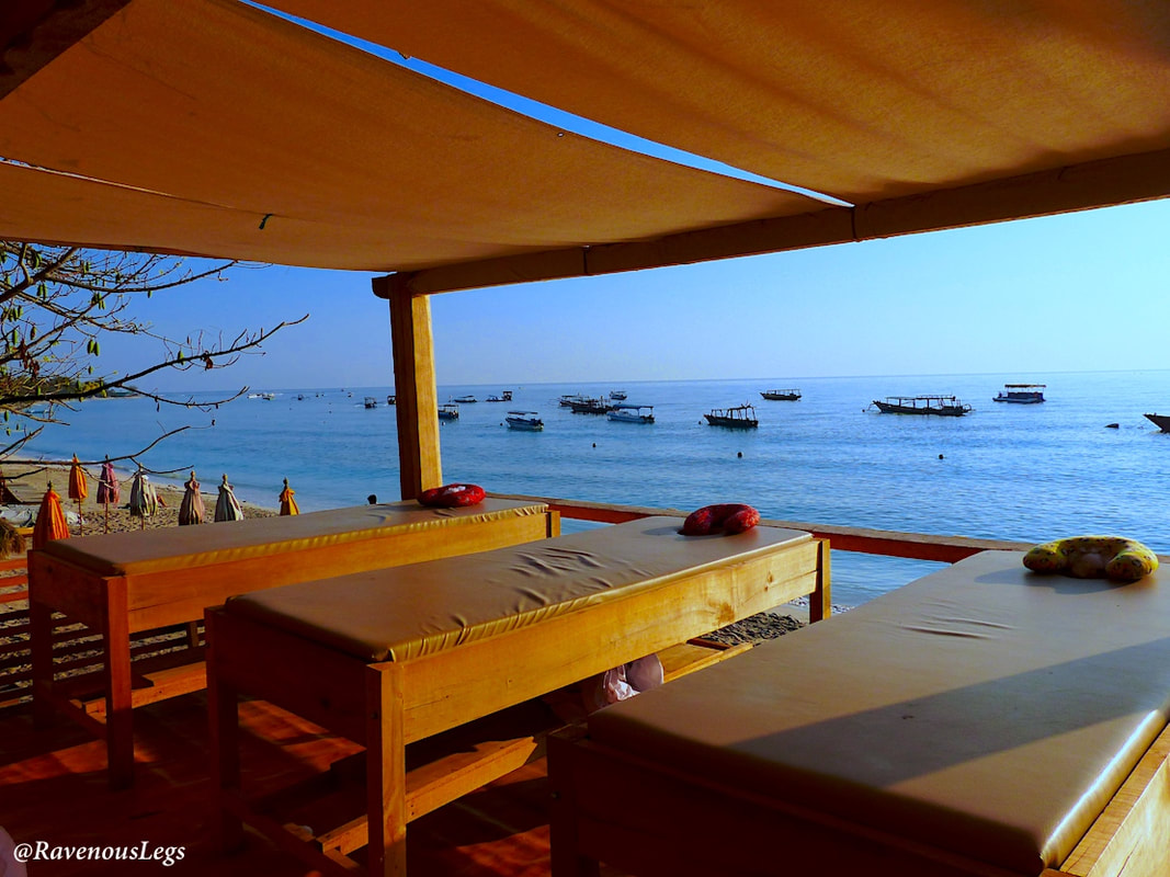 Massage on the beach - Gili Trawangan Island, Indonesia