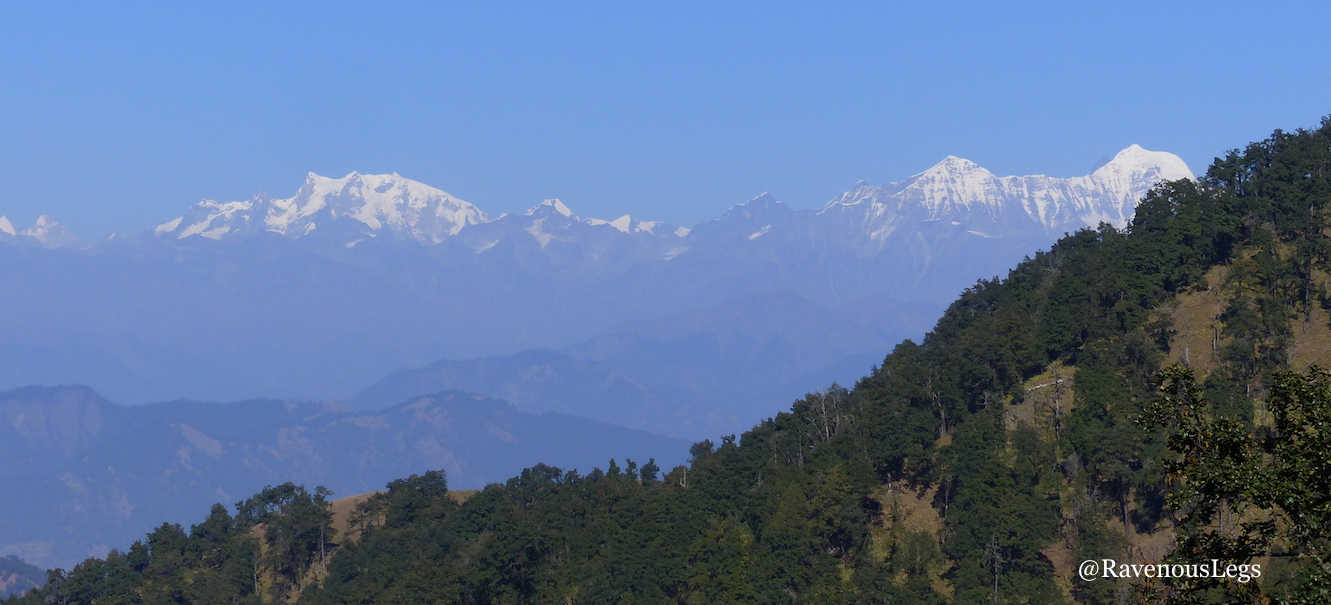 Snow capped mountains view from Nag tibba