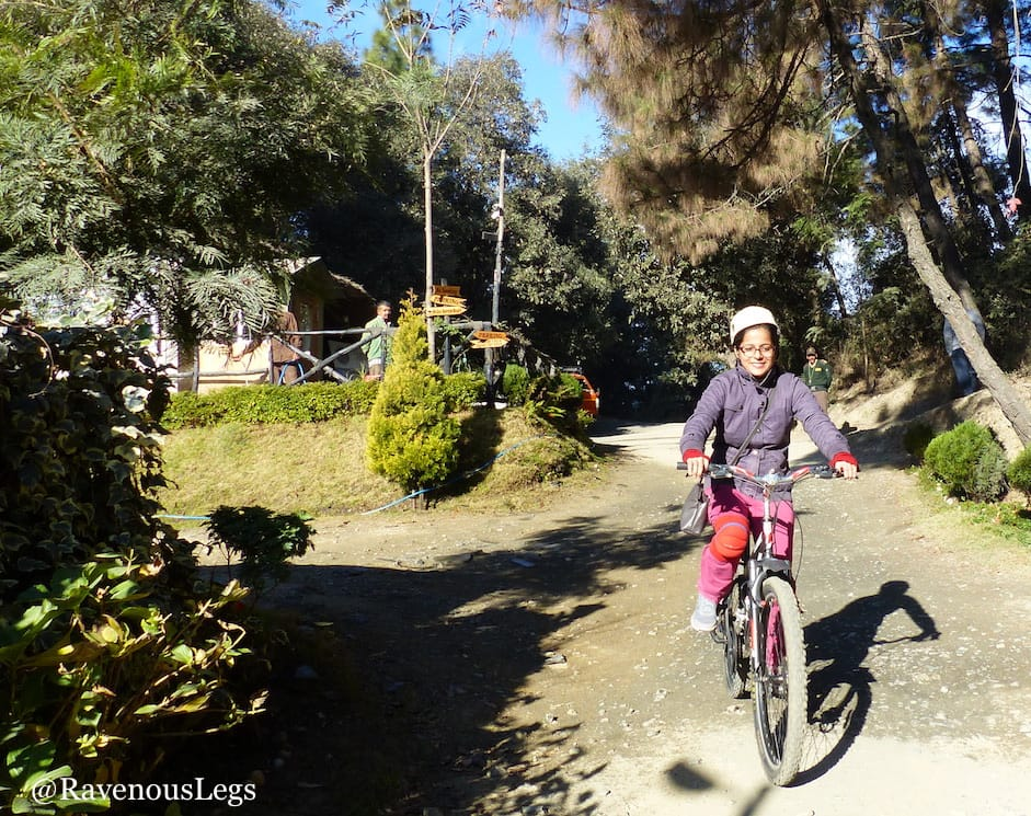 Mountain biking at Aamod at Shoghi