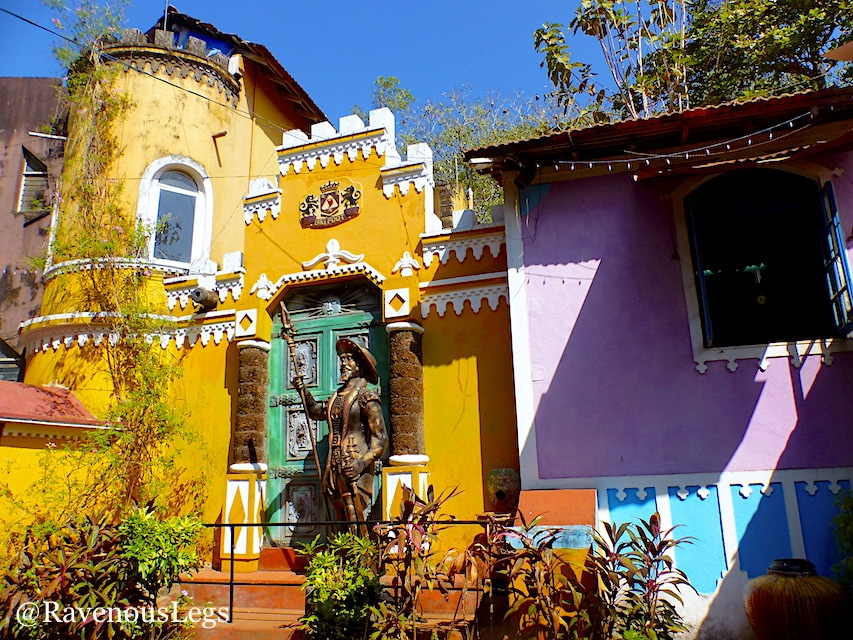 Spanish + Portuguese architecture at Ancestral Goa, Bigfoot museum, Loutolim