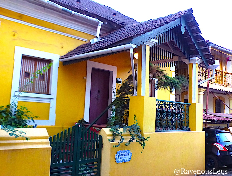 High plinths and grand staircases of Portuguese houses in Goa