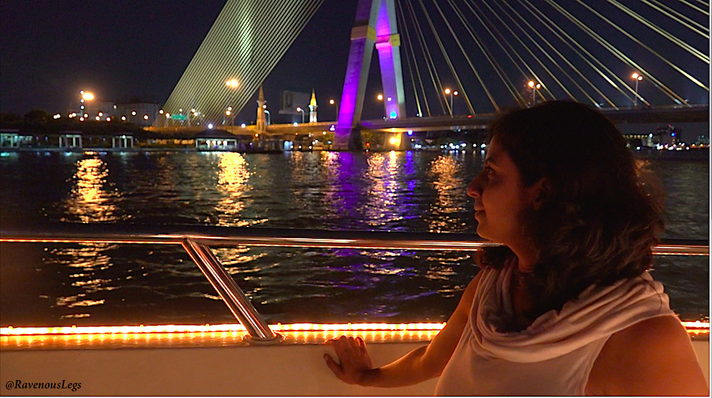 Night cruise on river Chao Phraya